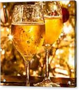 Two Champagne Glasses Ready To Bring In The New Year Acrylic Print