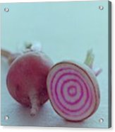 Two Chioggia Beets Acrylic Print