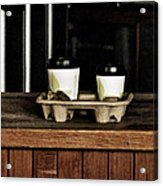 Two Coffees And A Muffin To Takeaway Acrylic Print