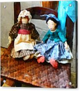 Two Colonial Rag Dolls Acrylic Print
