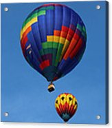 Two Colorful Balloons Acrylic Print