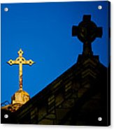 Two Crosses In Jerusalem Acrylic Print