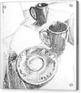 Two Cups And A Saucer Acrylic Print