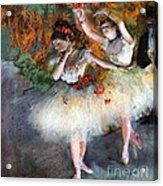 Two Dancers Entering The Scene Acrylic Print