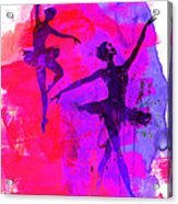 Two Dancing Ballerinas 3 Acrylic Print
