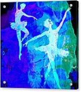 Two Dancing Ballerinas  Acrylic Print