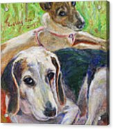 Two Dogs Acrylic Print