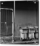 Two Doors And Three Cans Mono Acrylic Print