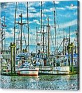 Two Fishing Boats Hdr Acrylic Print
