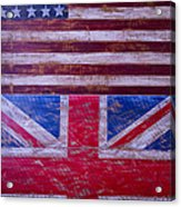 Two Flags American And British Acrylic Print