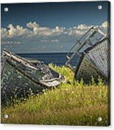 Two Forlorn Abandoned Boats On Prince Edward Island Acrylic Print