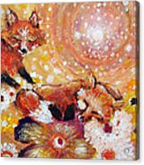 Two Foxes You Have A Friend In Me Acrylic Print