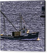 Two Girls And A Buoy Acrylic Print