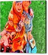 Two Girls Acrylic Print