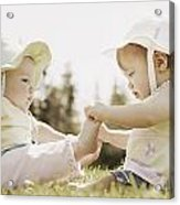 Two Girls Sit Together Acrylic Print