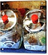Two Glass Cookie Jars Acrylic Print