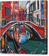 Two Gondolas In Venice Acrylic Print