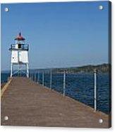 Two Harbors Mn Pier Light 13 Acrylic Print