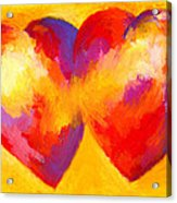 Two Hearts Beat As One Acrylic Print