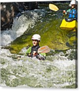 Two Kayakers On A Fast River Acrylic Print