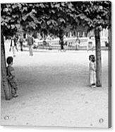 Two Kids In Paris Acrylic Print