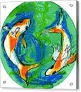 Two Koi Fish Acrylic Print