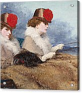 Two Ladies In A Carriage Ride Acrylic Print
