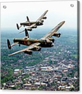 Two Lancasters Over High Wycombe Acrylic Print