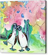 Two Little Boobies Support Breast Cancer Awareness Week Acrylic Print