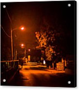 Lovers In The Night Acrylic Print