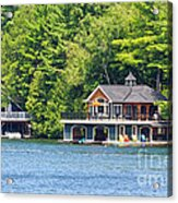 Two Luxury Boathouses Acrylic Print