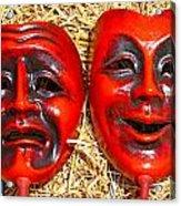 Two Masks Acrylic Print by Borislav Marinic