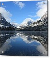 Two Medicine Lake After A Snowstorm Acrylic Print