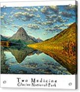 Two Medicine Lake Sunrise Acrylic Print