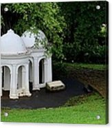 Two Meditating Cupolas In Fort Canning Park Singapore Acrylic Print