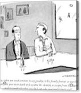 Two Men Talk In A Bar Acrylic Print