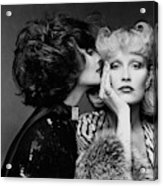 Two Models Wearing Wigs By Edith Imre Acrylic Print