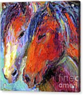 Two Mustang Horses Painting Acrylic Print