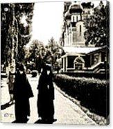 Two Nuns - Sepia - Novodevichy Convent - Russia Acrylic Print