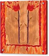 Two Of Wands Acrylic Print