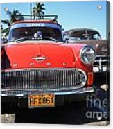 Two Old American Cars Acrylic Print