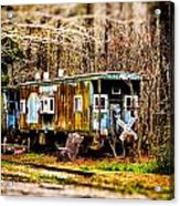 Two Old Cabooses Acrylic Print