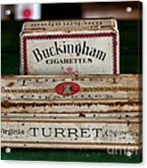 Two Old Cigarette Boxes Acrylic Print