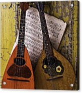 Two Old Mandolins Acrylic Print