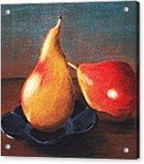Two Pears Acrylic Print by Anastasiya Malakhova