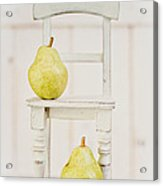 Two Pears And A Chair Still Life Acrylic Print