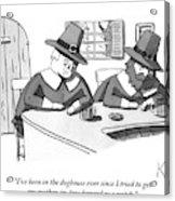 Two Puritan Men Sit At A Bar Together Acrylic Print