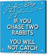 Two Rabbits Blue Acrylic Print