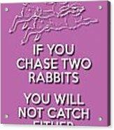 Two Rabbits Violet Acrylic Print