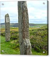Two Ring Of Brodgar Stones Acrylic Print